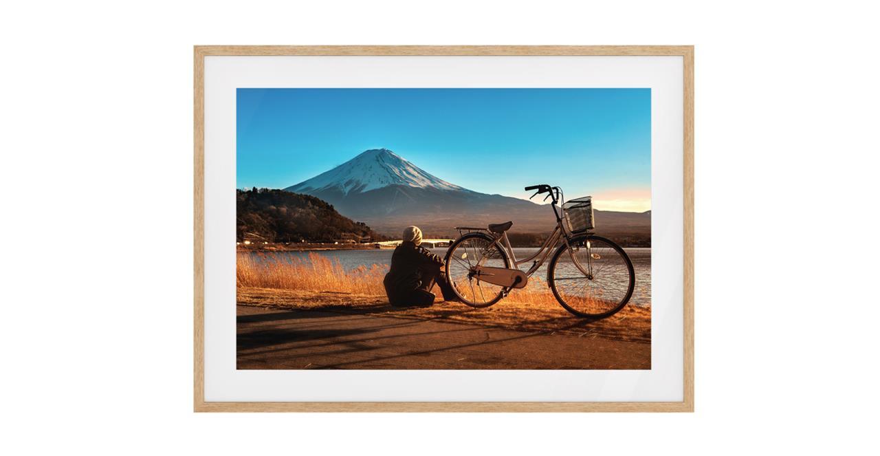 The Fuji Print Natural Wood Frame Small