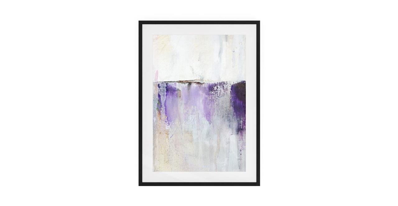 The Purple Rain Print Black Wood Frame Small Medium