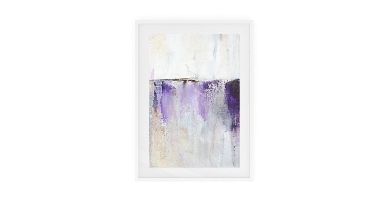 The Purple Rain Print White Wood Frame Small Medium