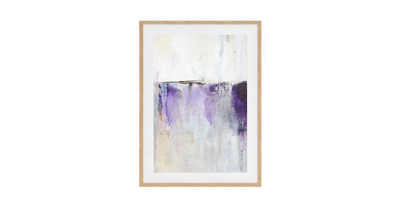 The Purple Rain Print Natural Wood Frame Small Medium