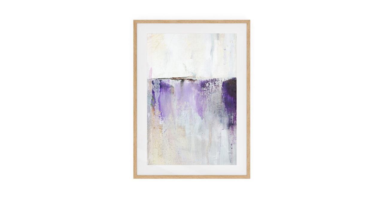 The Purple Rain Print Natural Wood Frame Medium Medium