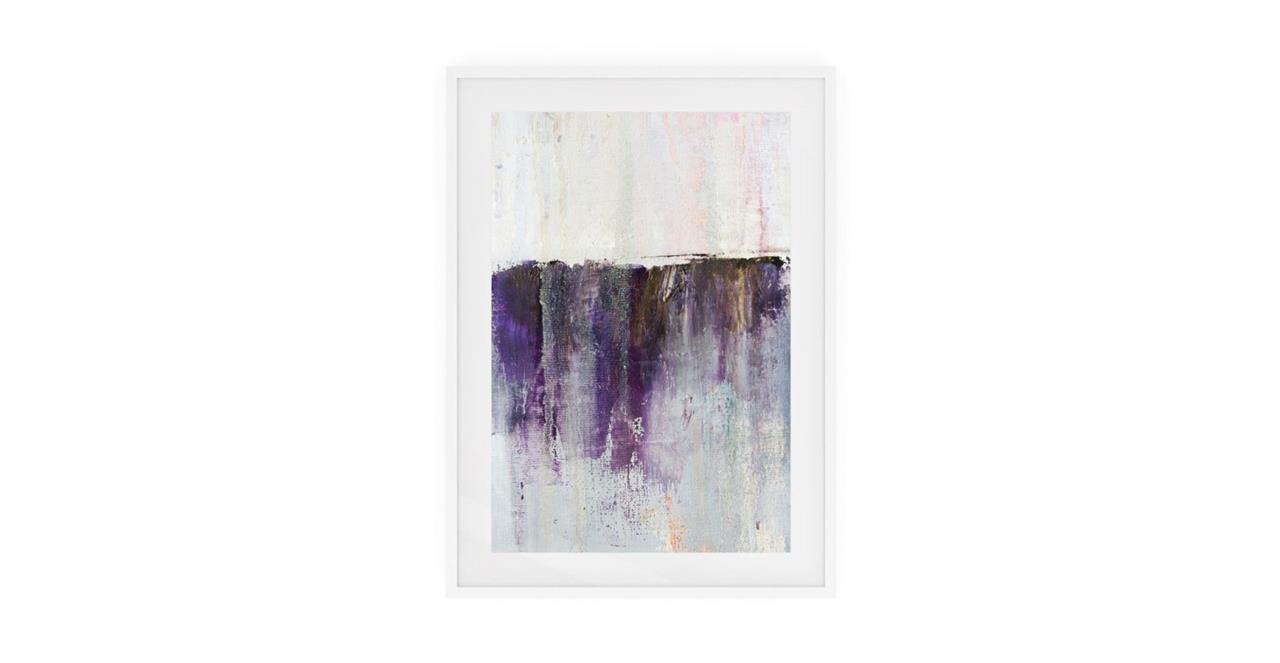 The Purple Rain Print White Wood Frame Medium Heavy