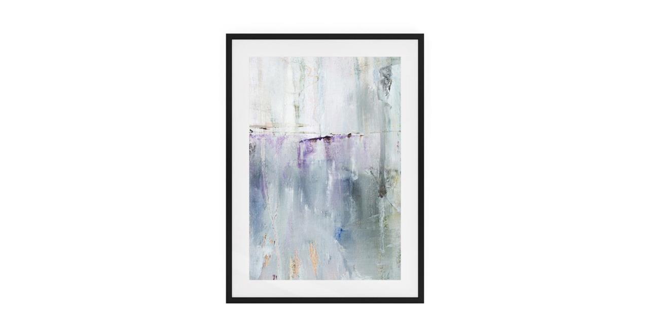 The Purple Rain Print Black Wood Frame Small Light