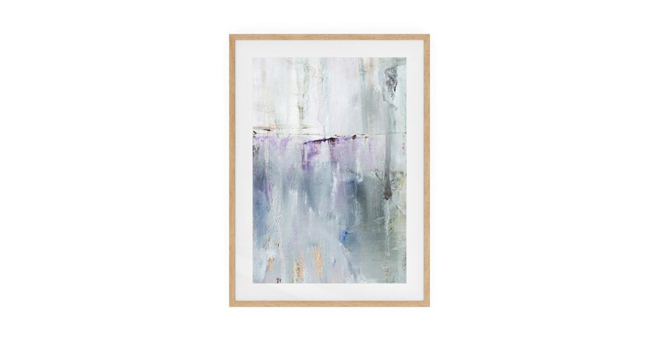 The Purple Rain Print Natural Wood Frame Small Light