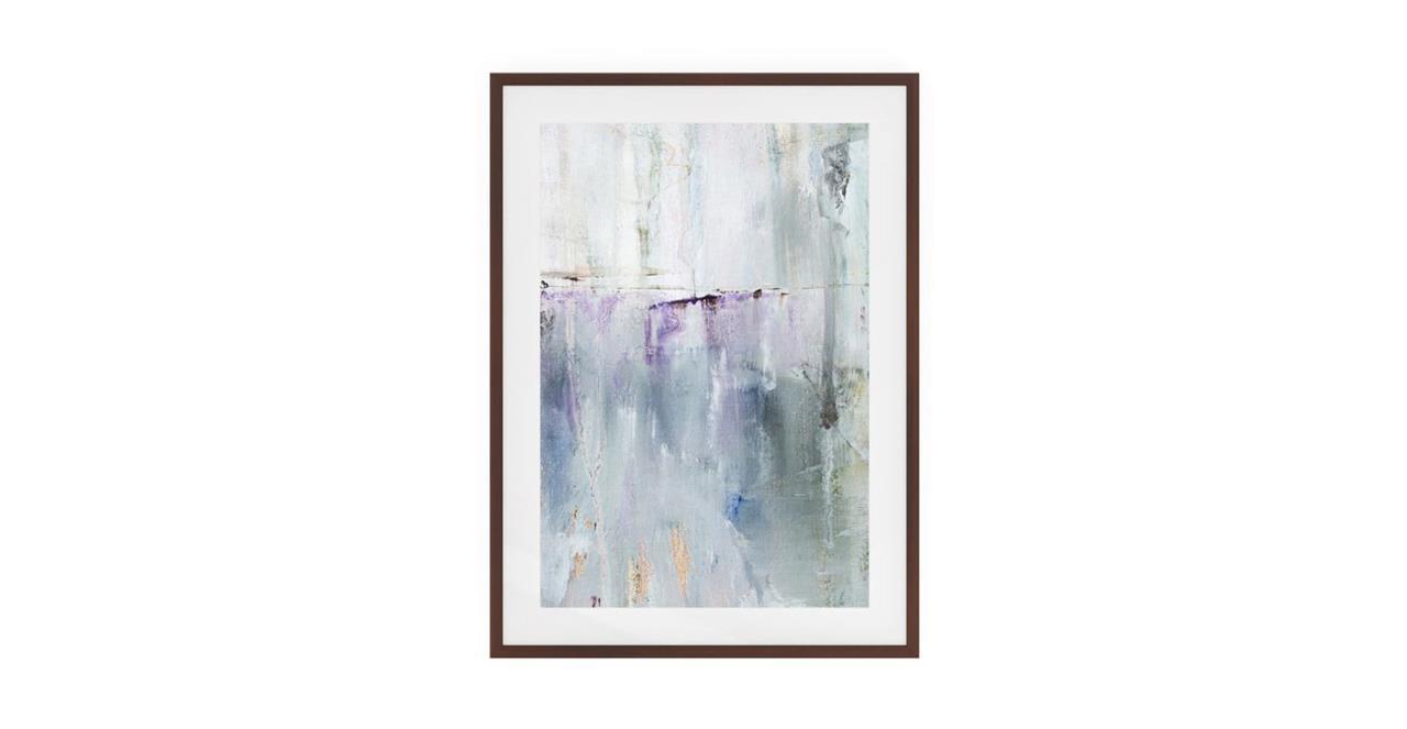 The Purple Rain Print Dark Brown Wood Frame Small Light