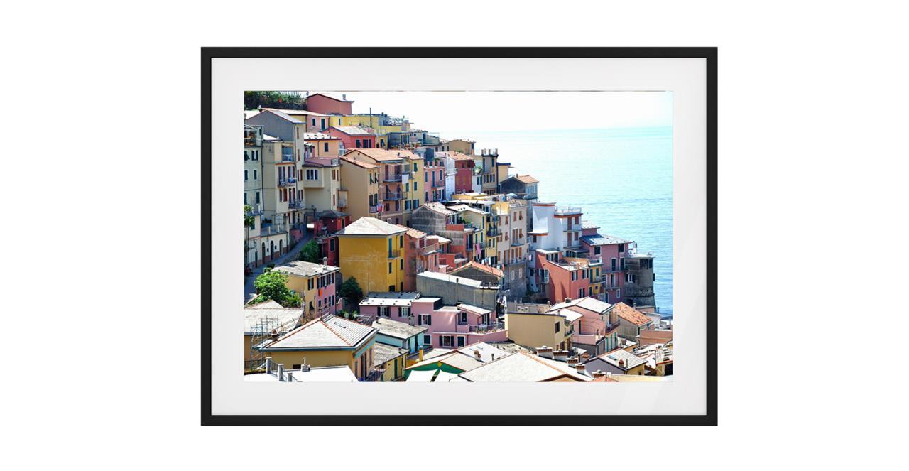 The Riviera Print Black Wood Frame Medium