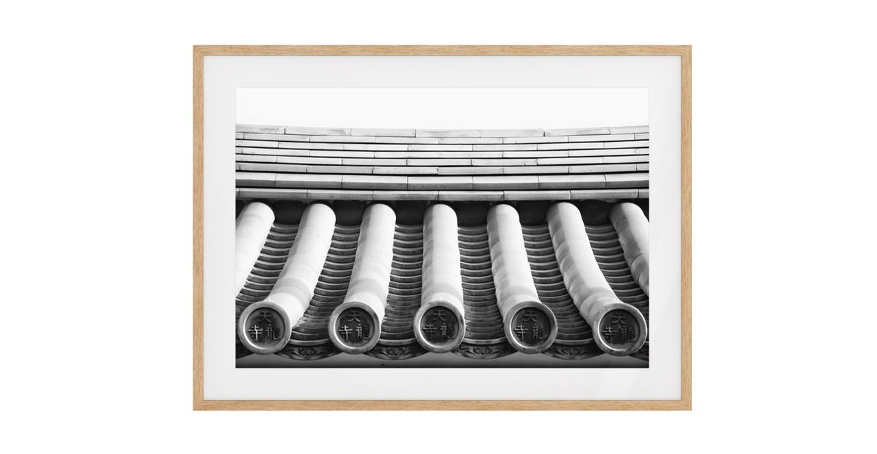 The Roof Print Natural Wood Frame Small