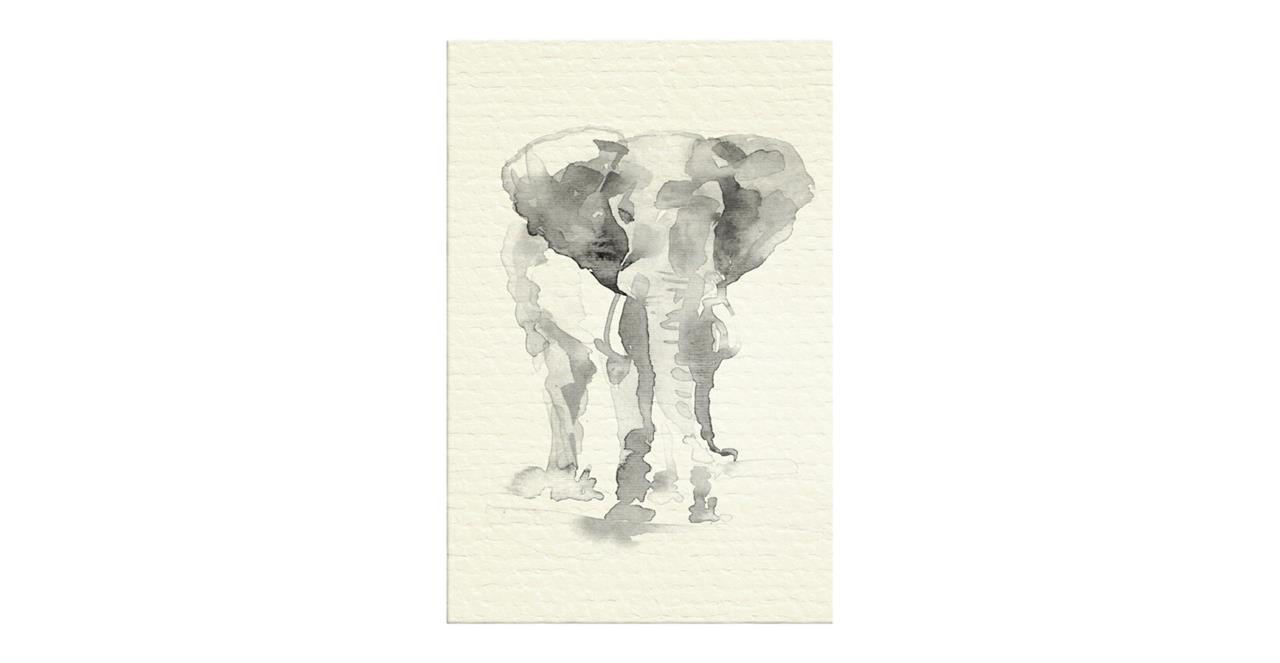 The Safari Print Canvas Medium Elephant