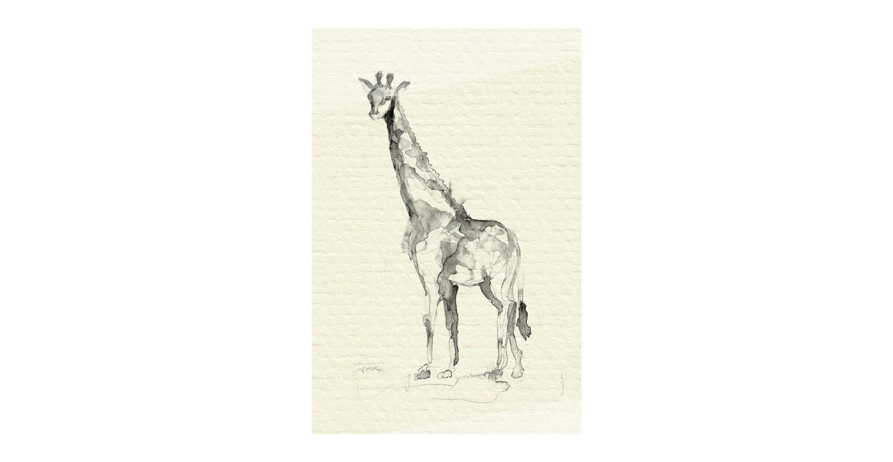 The Safari Print Metal Print Small Giraffe