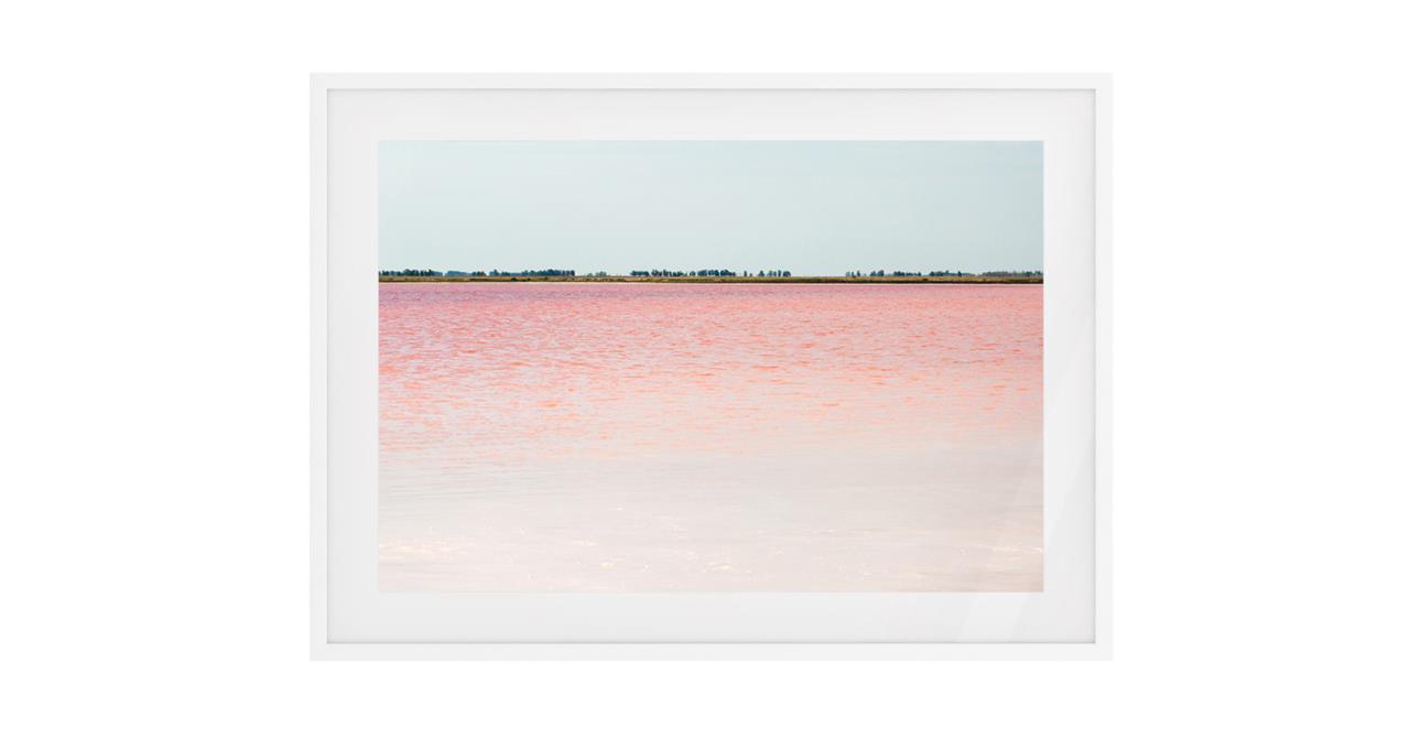 The Salt Print White Wood Frame Medium