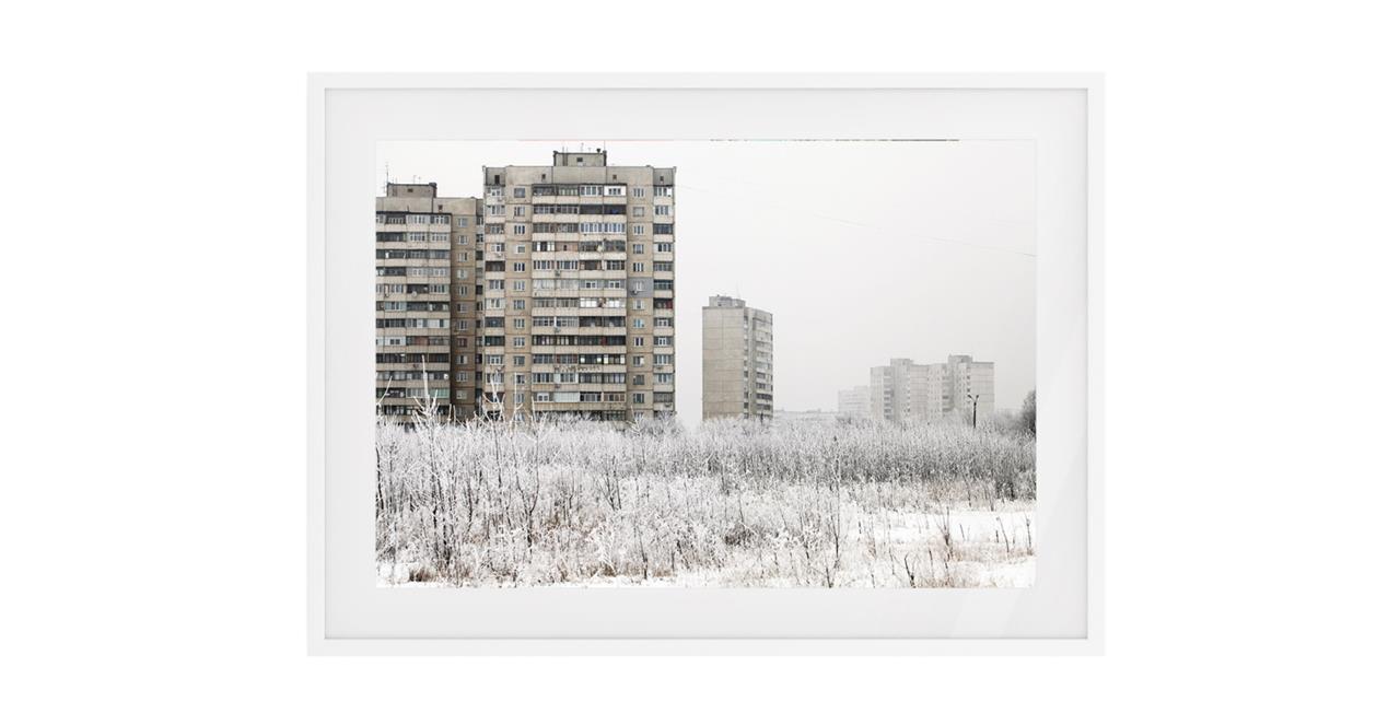 The Season Print White Wood Frame Small