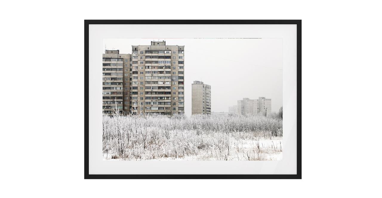 The Season Print Black Wood Frame Medium