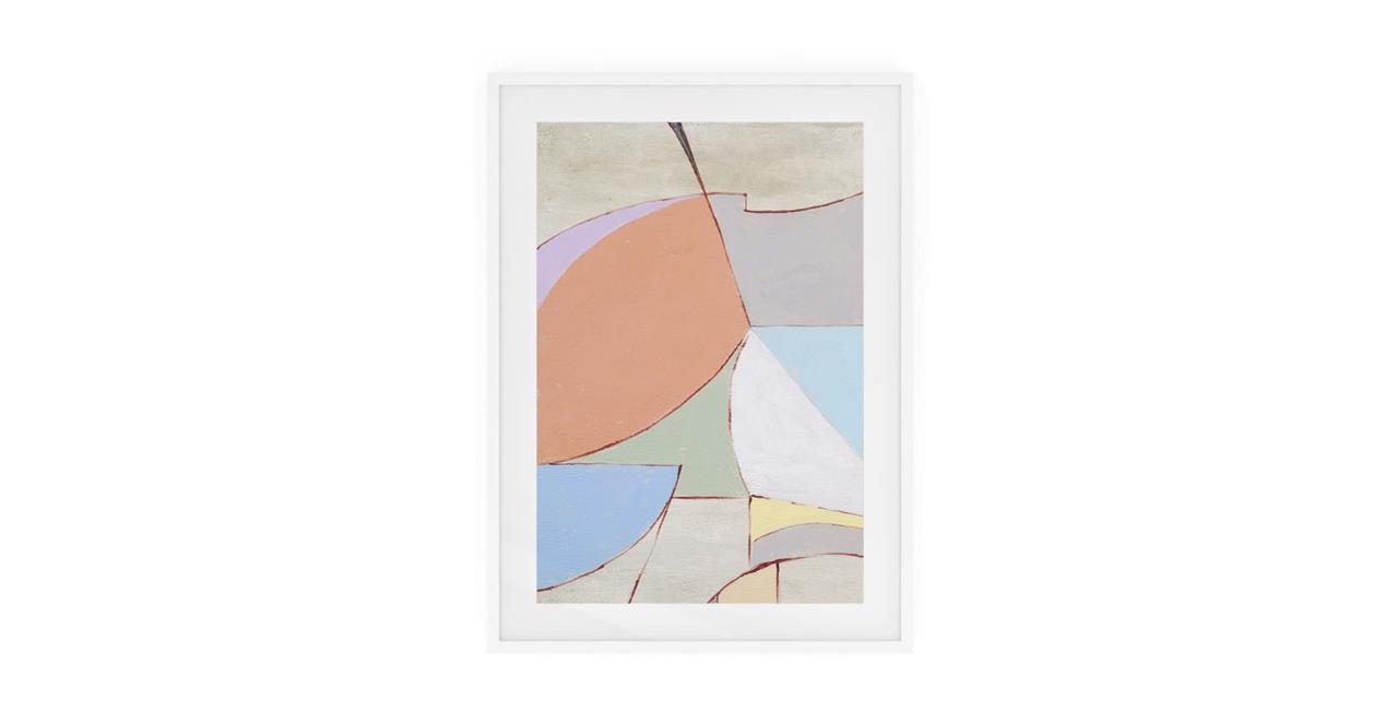 The Sorbet Print White Wood Frame Medium Rose