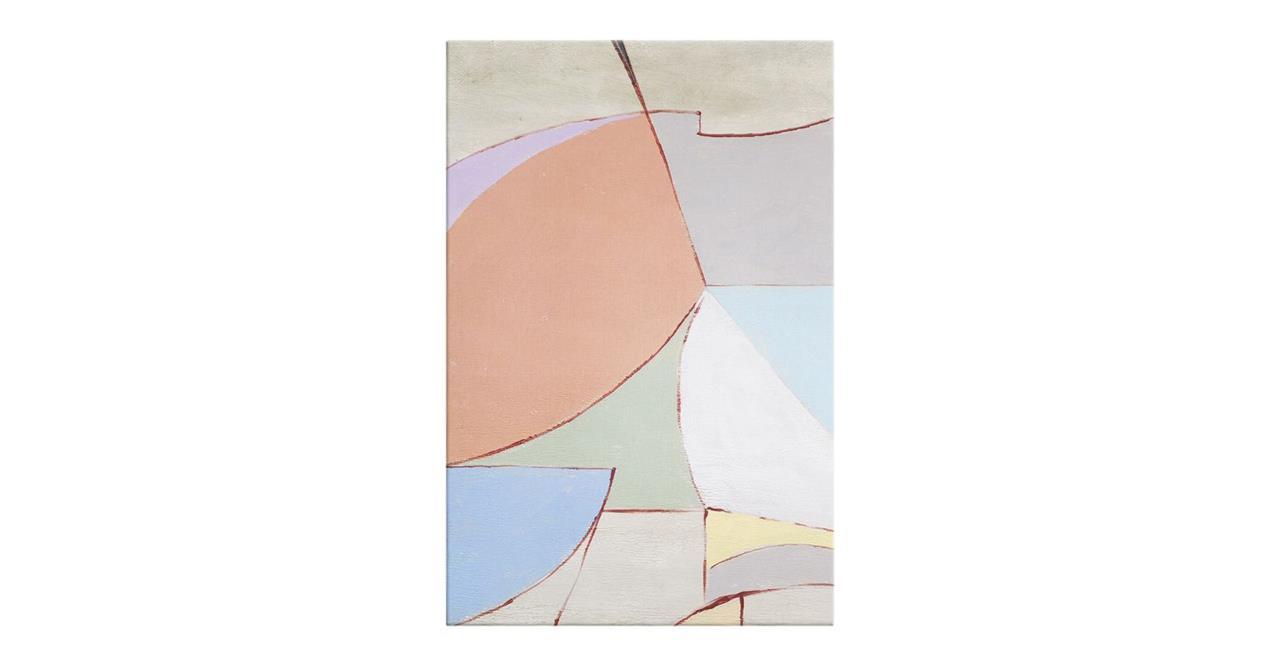 The Sorbet Print Canvas Medium Rose