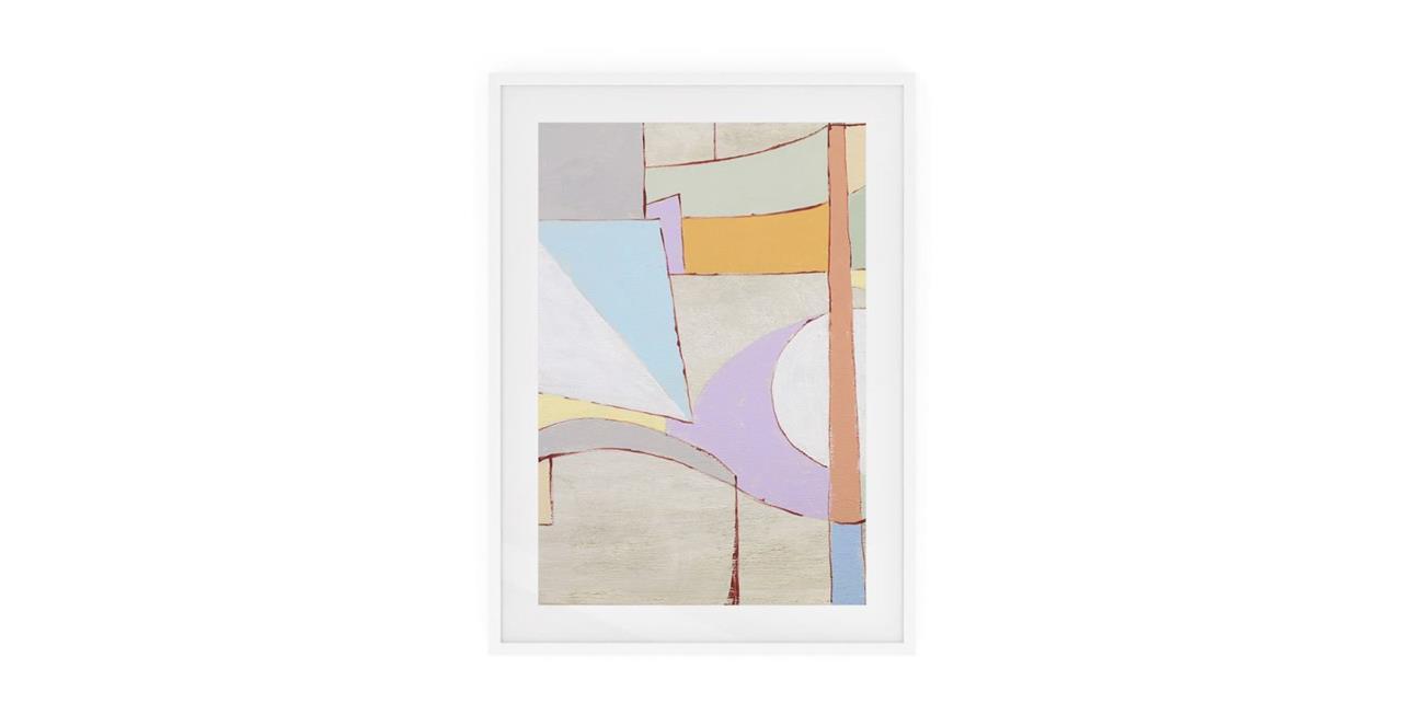 The Sorbet Print White Wood Frame Small Lavender