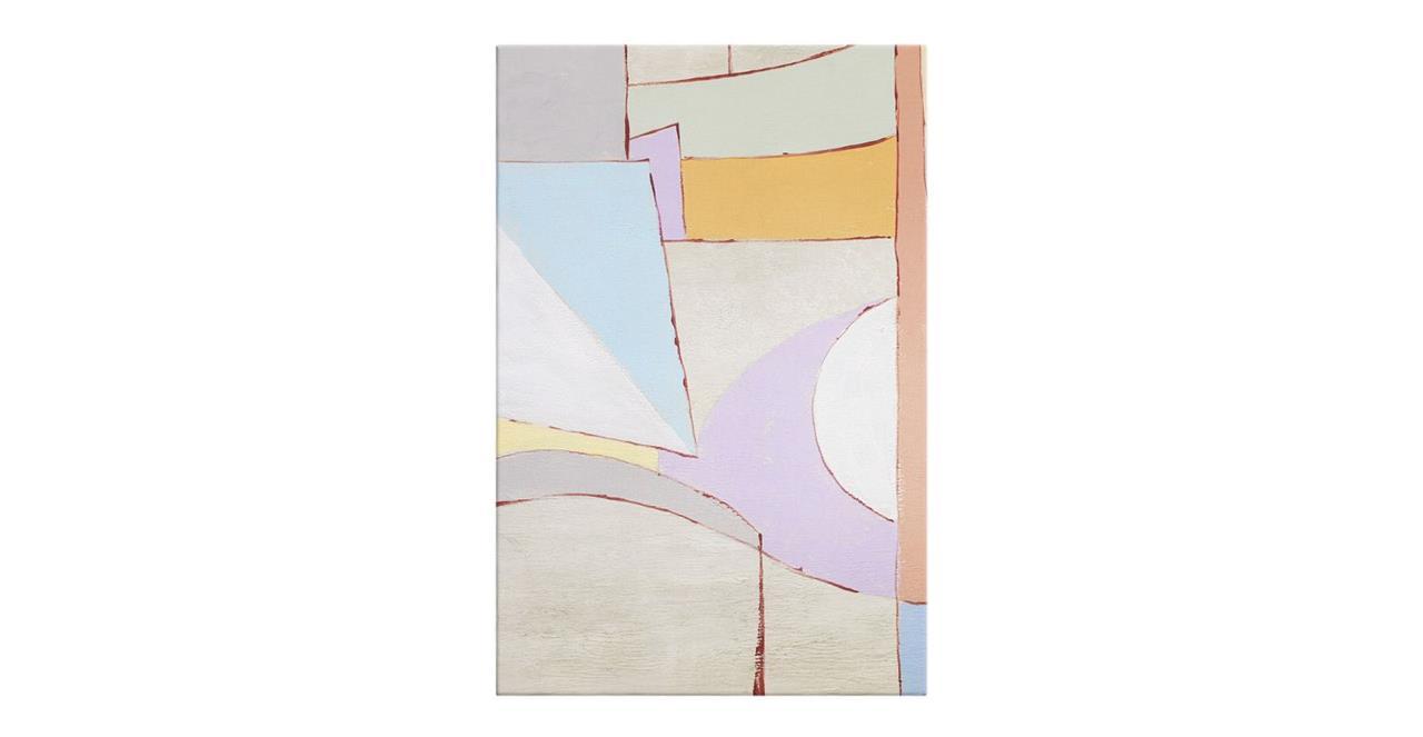 The Sorbet Print Canvas Small Lavender