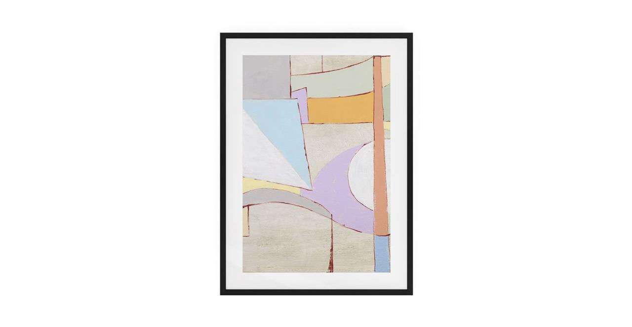 The Sorbet Print Black Wood Frame Medium Lavender