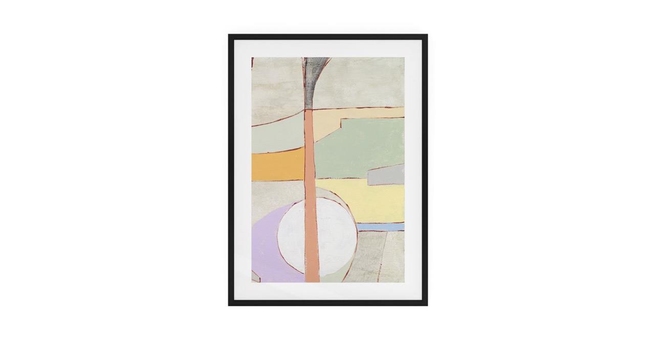 The Sorbet Print Black Wood Frame Small Green