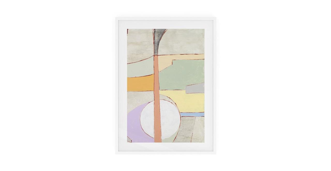 The Sorbet Print White Wood Frame Medium Green