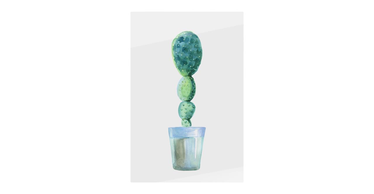 The Succulent Print Metal Print Medium Cactus