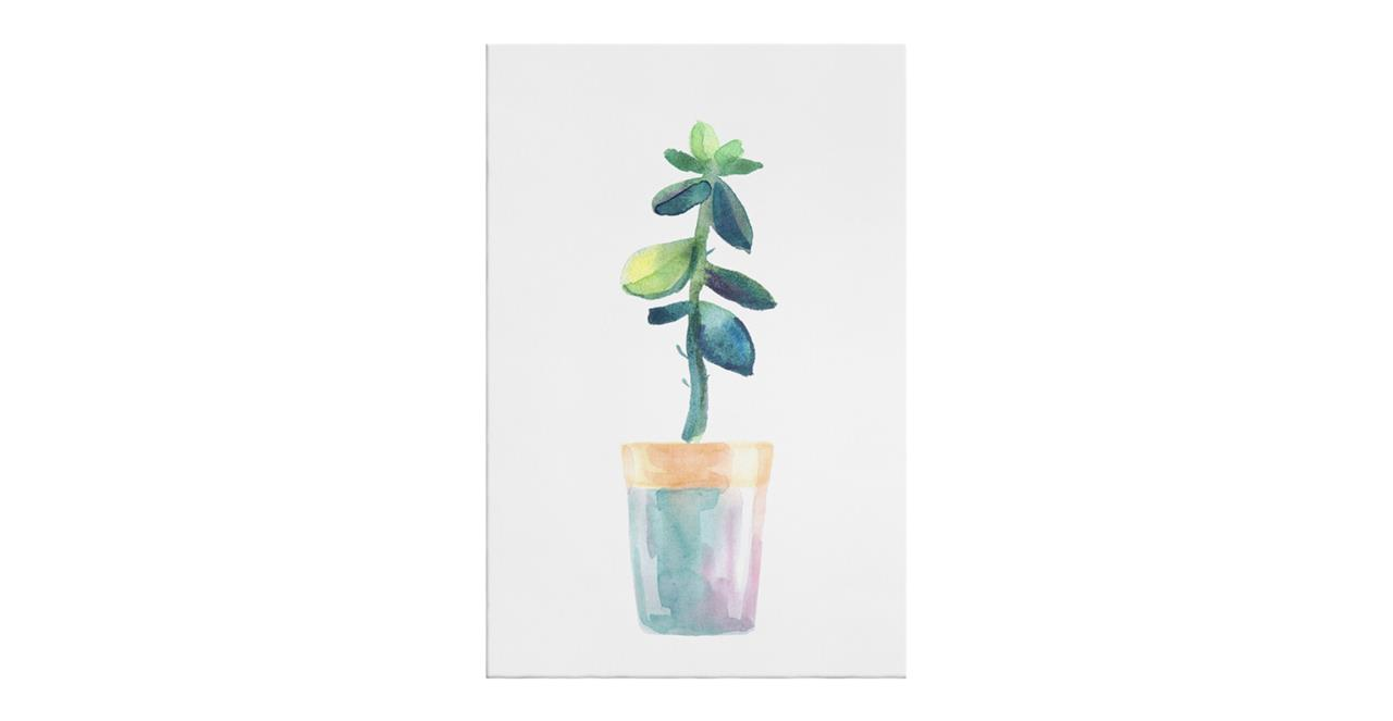 The Succulent Print Canvas Small Leaf