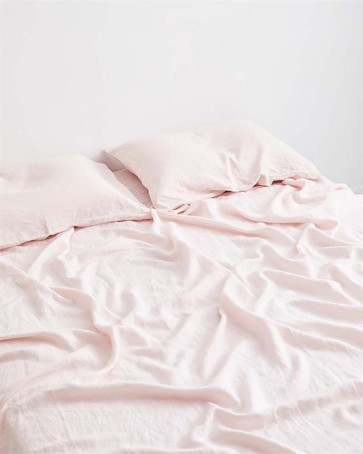 Rosewater 100% Flax Linen Fitted Sheet - Bed Threads by Bed Threads, a Sheets for sale on Style Sourcebook