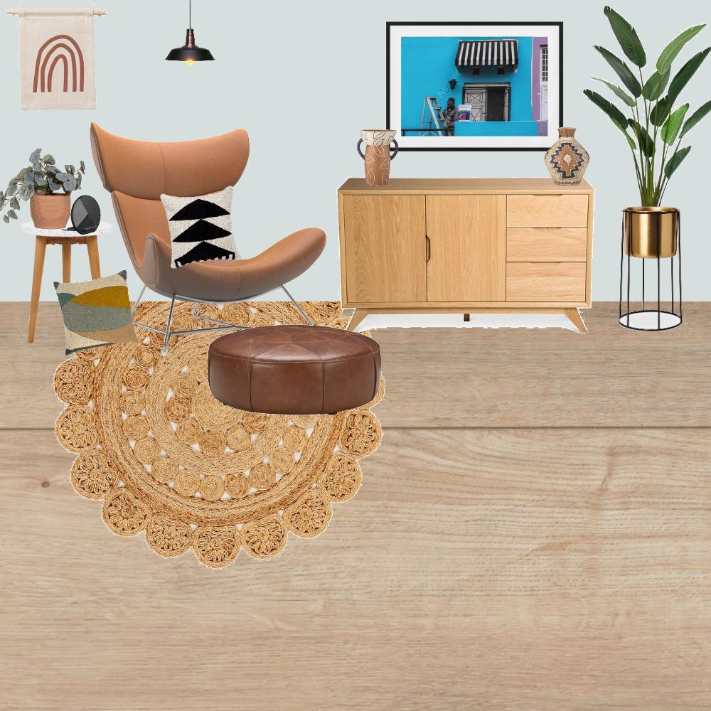 Bohemian Sitting Area Interior Design Mood Board by Jooo on Style Sourcebook