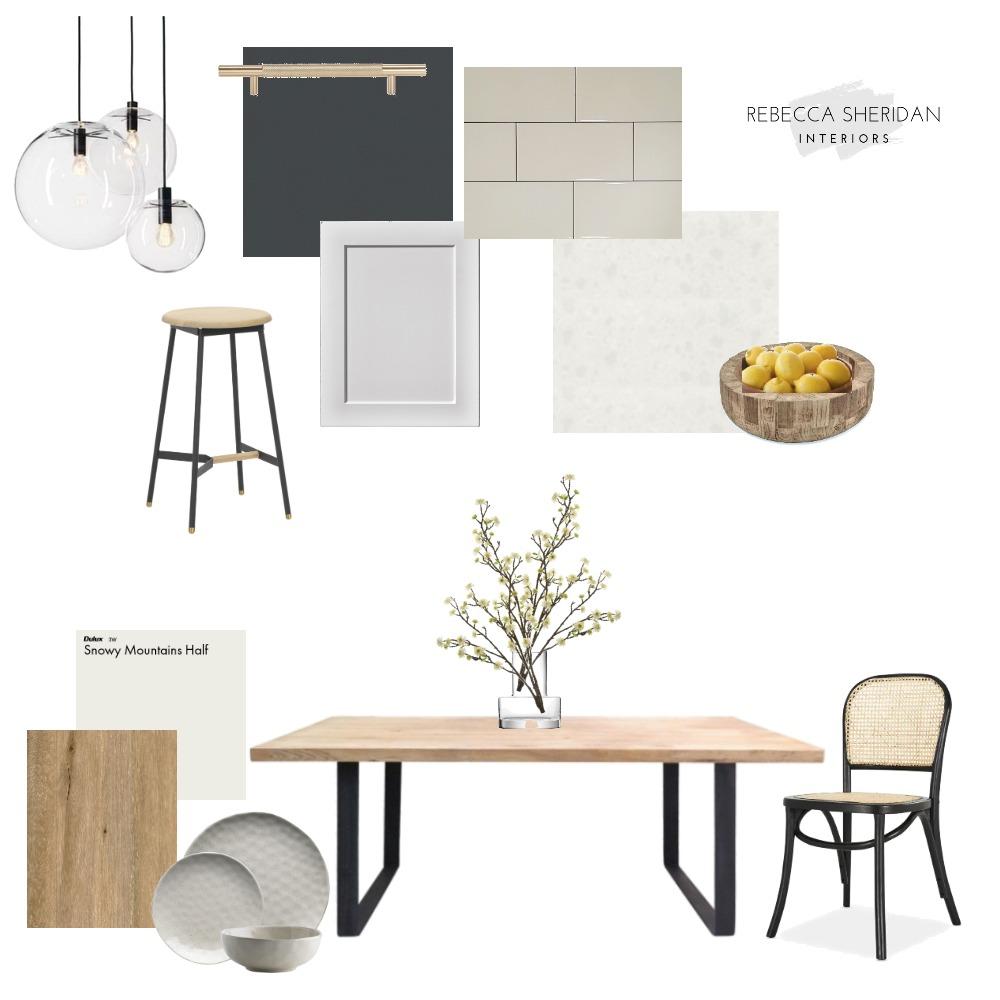 Kitchen/Dining Modern Farmhouse Interior Design Mood Board by Rebecca Sheridan Interiors on Style Sourcebook