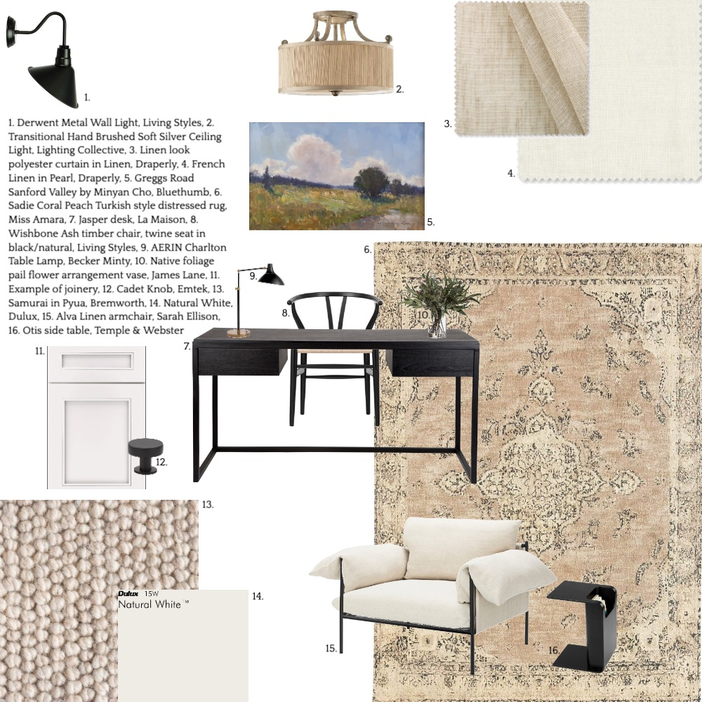 Home Office Interior Design Mood Board by AV Design House on Style Sourcebook