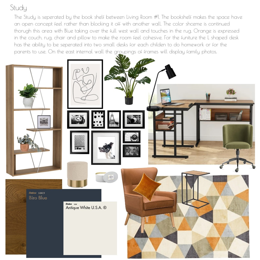 Study Interior Design Mood Board by libbypine1 on Style Sourcebook