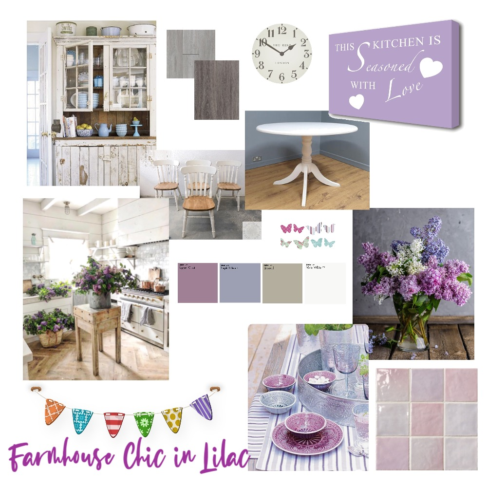 Country Chic in Lilac Interior Design Mood Board by Rogue on Style Sourcebook