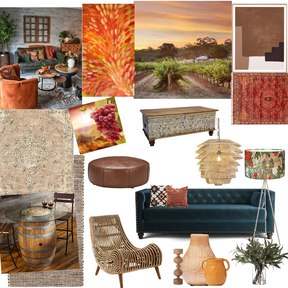 Clare Valley Rustic Interior Design Mood Board by kathvick on Style Sourcebook