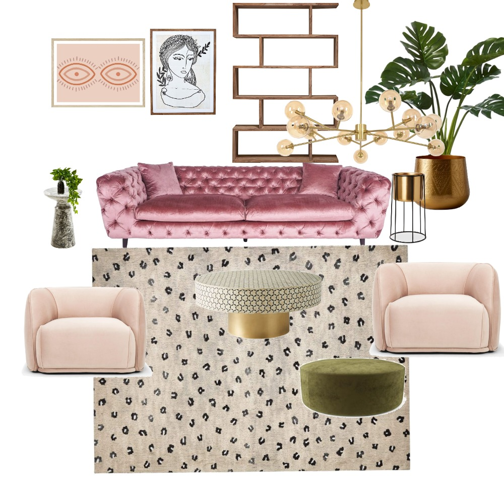 Boho Glam Interior Design Mood Board by AlidanLouise on Style Sourcebook