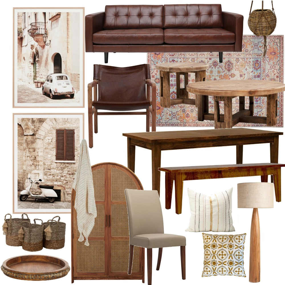 Tuscan Rustic Interior Design Mood Board by SAMMYUAL on Style Sourcebook