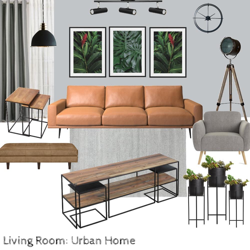 Urban Home: Living Room Interior Design Mood Board by Pranjal Jain on Style Sourcebook