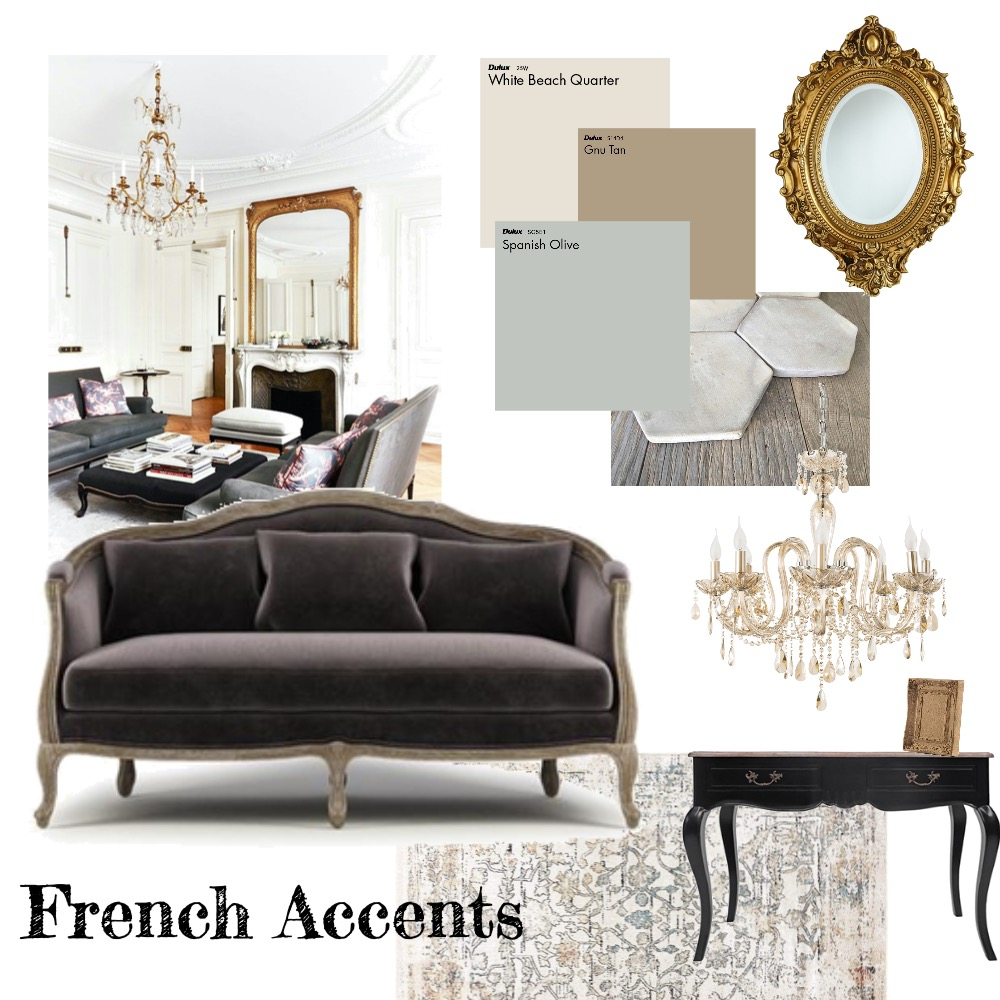 French Accents Interior Design Mood Board by nikki odonnell on Style Sourcebook
