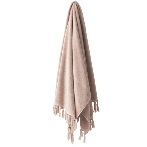 Paros Cotton Bathroom Towel Type: Bath Towel, Colour: Pink Clay by Temple & Webster, a Towels & Washcloths for sale on Style Sourcebook