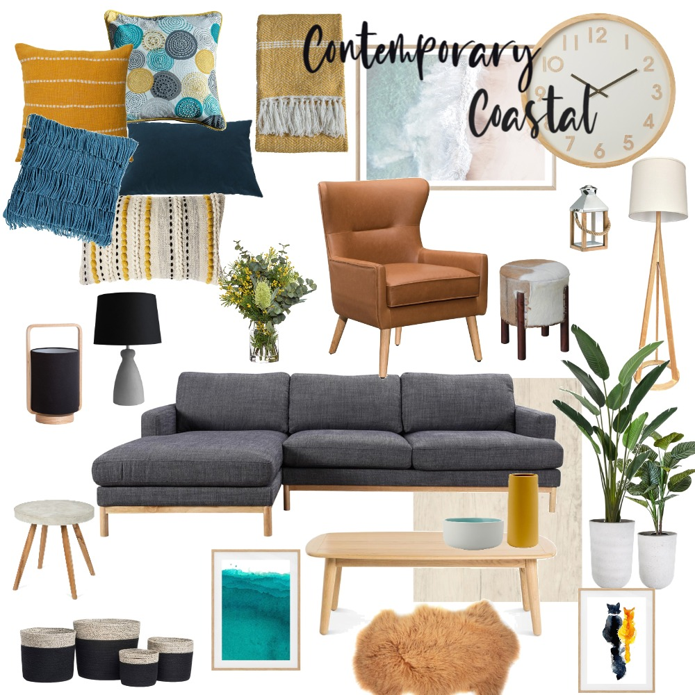 Contemporary Coastal Interior Design Mood Board by Lynne55555 on Style Sourcebook