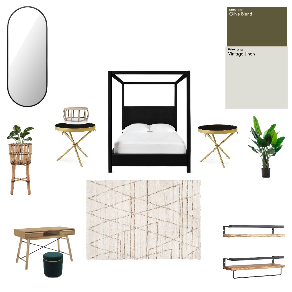 boho meets glam Interior Design Mood Board by diamond's home interior designs on Style Sourcebook