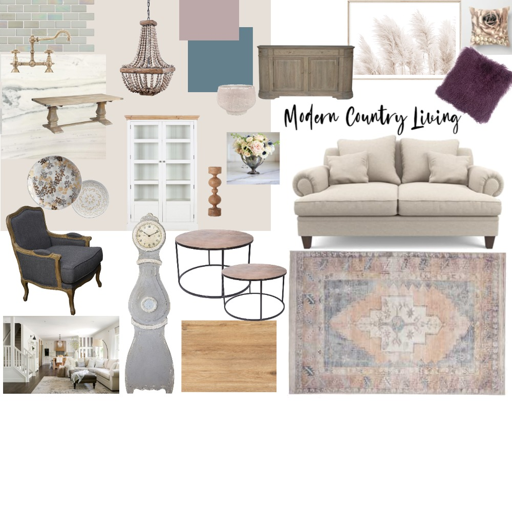 Modern Country living Interior Design Mood Board by Jessica Drechsler on Style Sourcebook