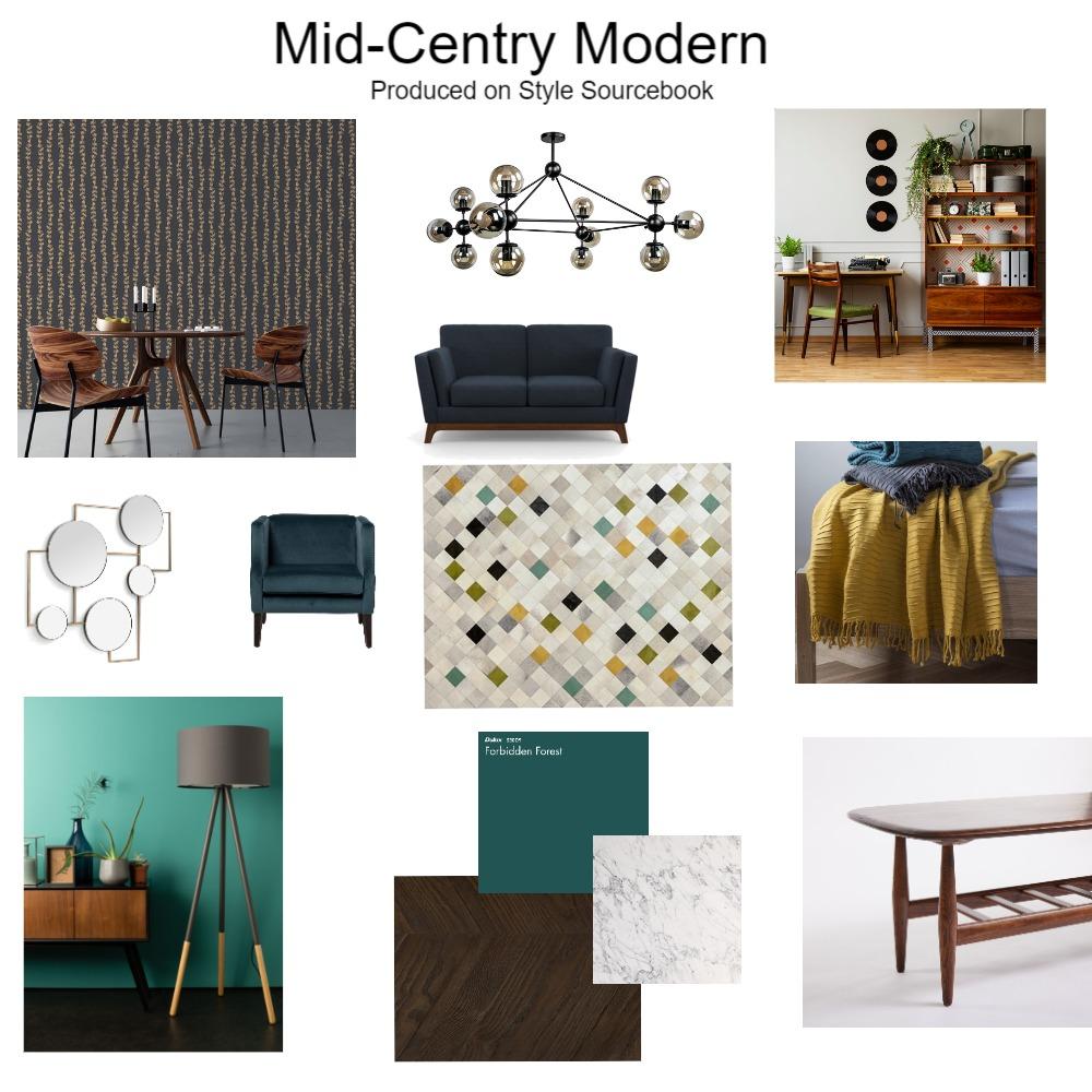 Mid-Century Modern Interior Design Mood Board by zwisbey on Style Sourcebook