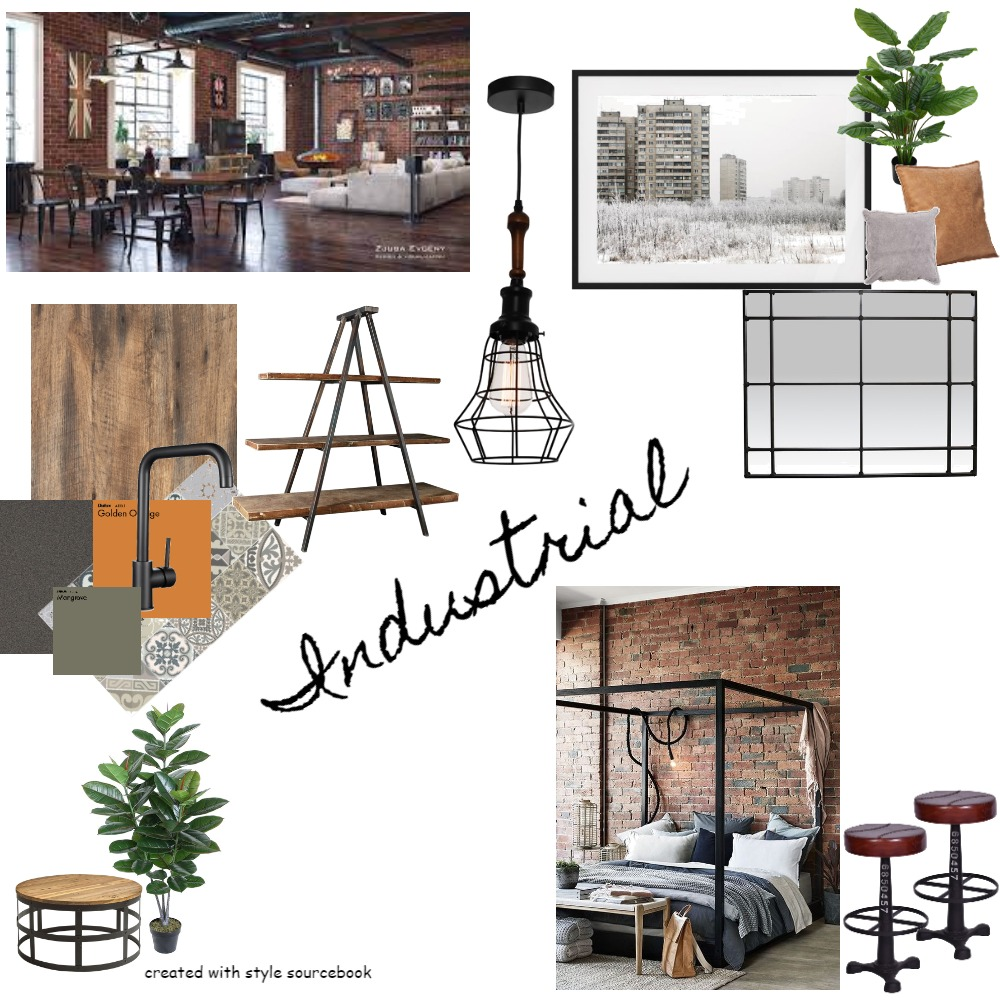 Industrial Interior Design Mood Board by steph claxton on Style Sourcebook