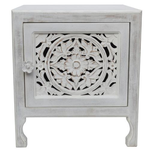 White Devi Side Table