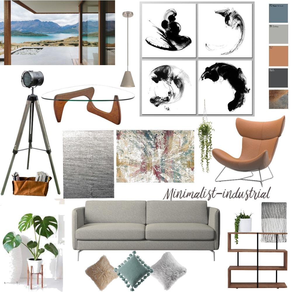 Industrial minimalist Interior Design Mood Board by helloBalanced on Style Sourcebook