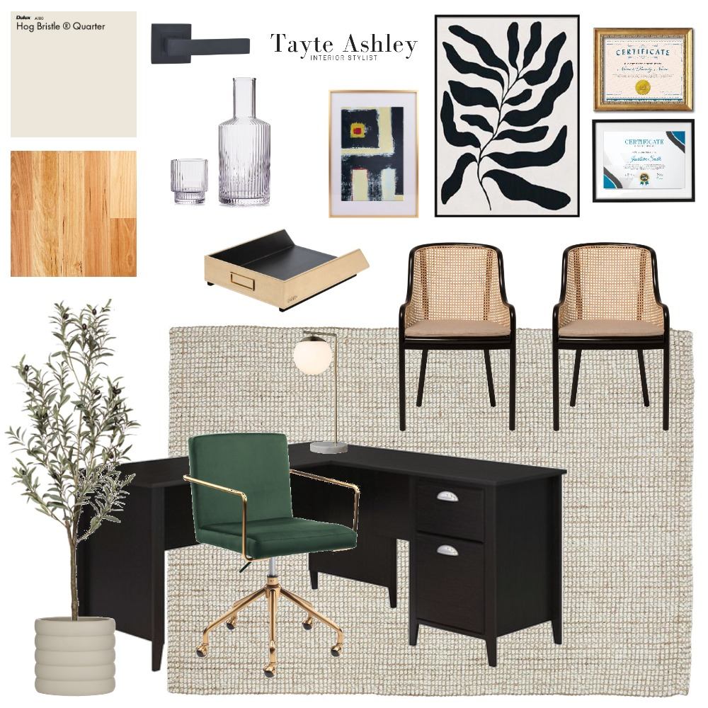 Contemporary Modern Office Interior Design Mood Board by Tayte Ashley on Style Sourcebook