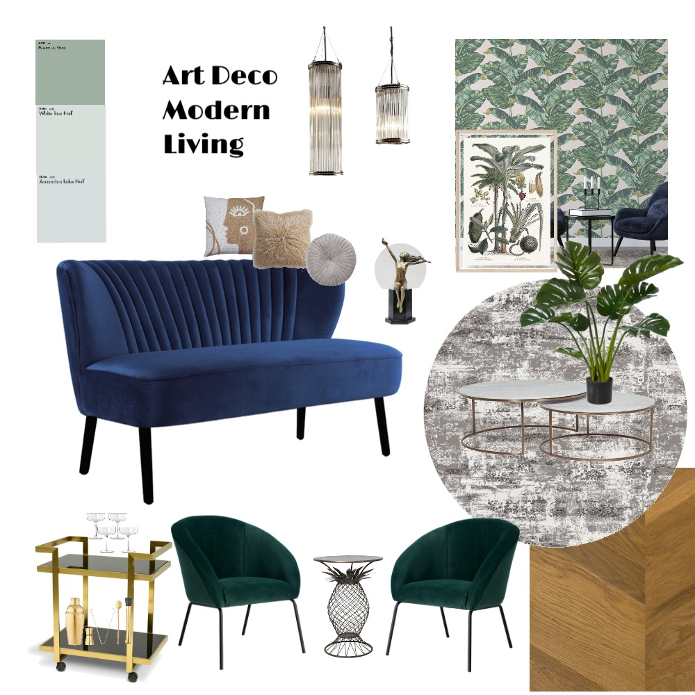 Art Deco Glam Interior Design Mood Board by JennyPenny on Style Sourcebook