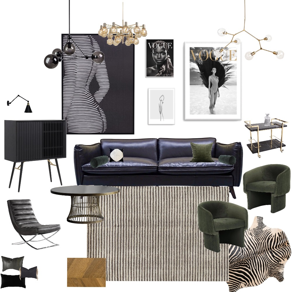 Assignment 3 Final Interior Design Mood Board by Diana V on Style Sourcebook