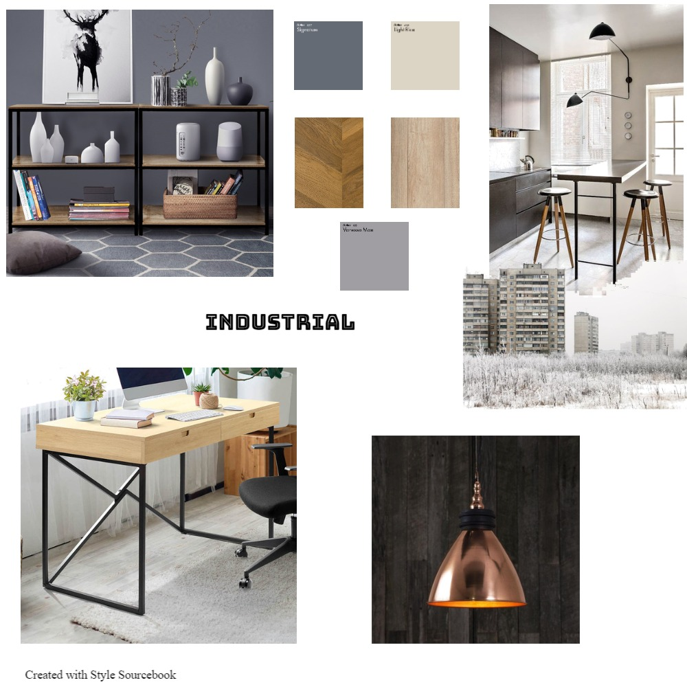 Industrial Interior Design Mood Board by Kimberley on Style Sourcebook