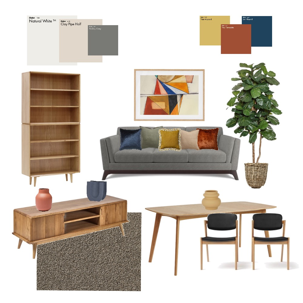 Brent's living room MB Interior Design Mood Board by sofid.interiors on Style Sourcebook