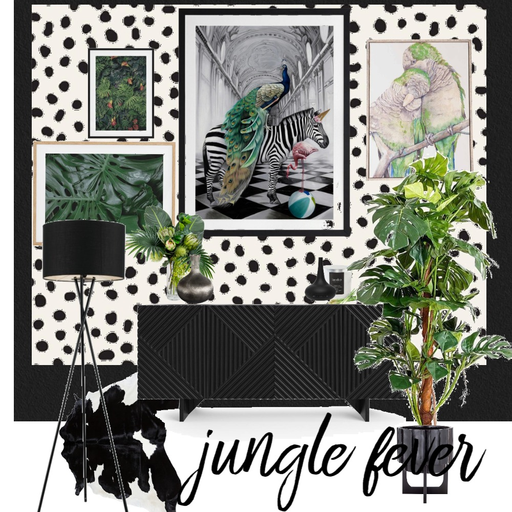 JUNGLE FEVER GALLERY WALL Interior Design Mood Board by WHAT MRS WHITE DID on Style Sourcebook